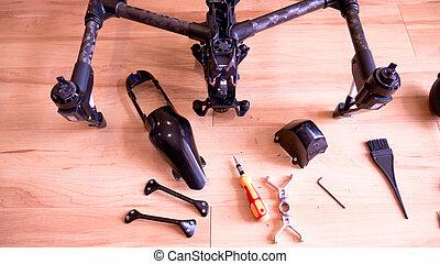Repair professional camera drone.