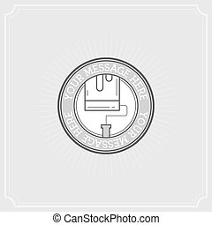 Repair Project. Flat Illustration Set of Line Modern Icons