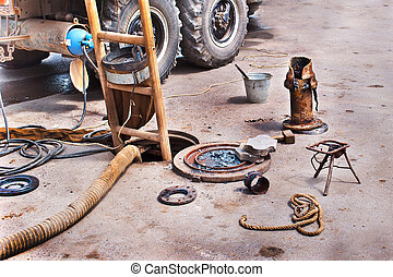 repair rotten sewer pipes - equipment for repair and...