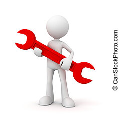repair service concept   3d illustration