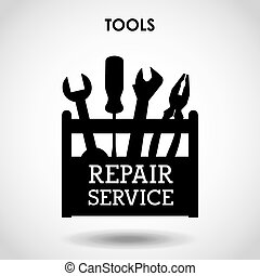 repair service design, vector illustration eps10 graphic