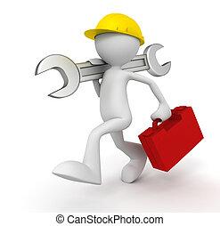 repair service man  3d illustration