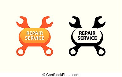 Repair Service, Vector Symbol for decoration of Auto Garage Business.