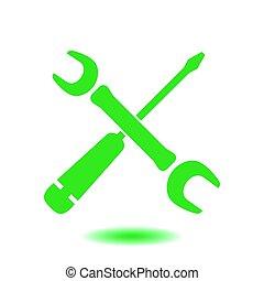 Repair sign symbol.