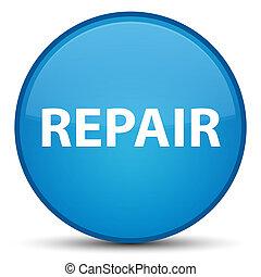 Repair special cyan blue round button