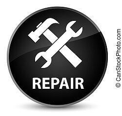 Repair (tools icon) elegant black round button