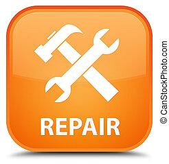 Repair (tools icon) special orange square button