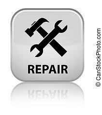 Repair (tools icon) special white square button