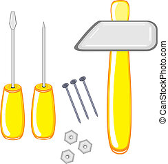 Repair Tools. Illustration on white background