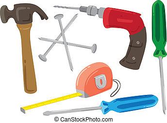 repair tools kit icon doodle