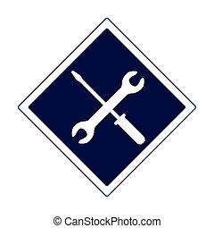 repair tools sign icon, flat design
