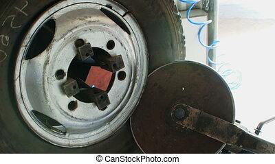 Repair wheel - Operating equipment repair shop.
