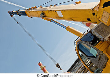 Repair work at the refinery by a crane - Automotive heavy...