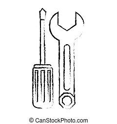 repair workshop emblem icon image