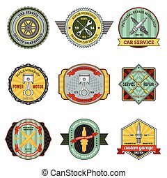 Repair Workshop Retro Badges