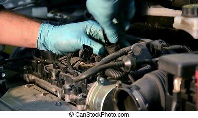 repairing an engine