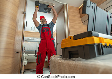 Repairing Ceiling Mounted RV Camper Air Condition