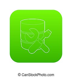 Repairing database icon green