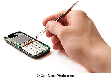 repairing the Cellphone