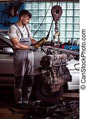Repairing the engine