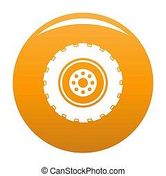 Repairing tire icon orange