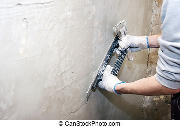 repairing wall
