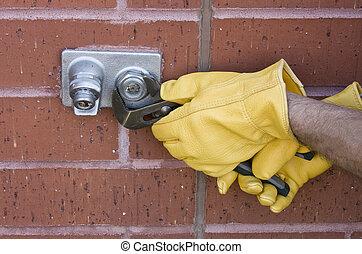 repairing water faucet