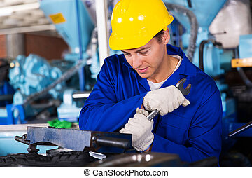 repairman, användande, skruvnyckel