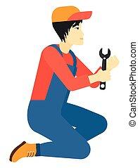 repairman, birtok, spanner.