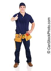 repairman, dar, polegar cima