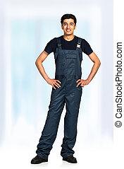 Repairman in the construction overalls - Repairman Arab...