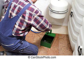 repairman is working