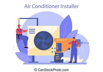 repairman, nedvességtartalom szabályozás, instalation, service., levegő, rendbehozás
