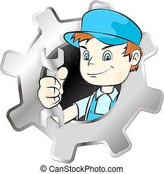 Repairman symbol vector