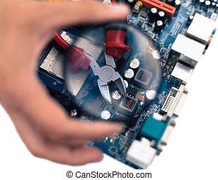 repairs and maintenance and monitoring of computer