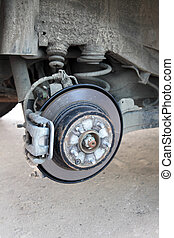 braking system of the car