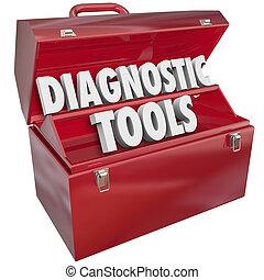 reparación, aprieto, solución, diagnóstico, palabras, caja...