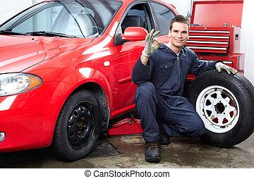 reparación, automóvil