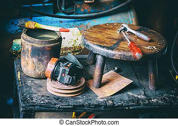 reparación automóviles, herramientas
