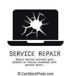 reparación, bandera, servicio