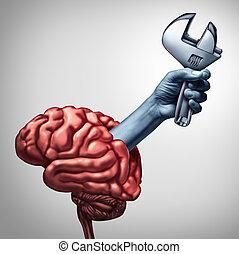 reparación, cerebro