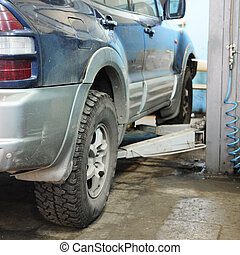 reparación coche, estación