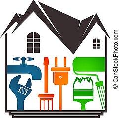 reparación, diseño, hogar
