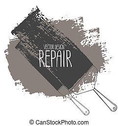 reparación, gráfico, herramientas