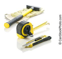 reparación, herramientas, trabajando