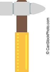 reparación, illustration., plano, herramienta, trabajo, amarillo, hardware, equipo, construcción, martillo, industria