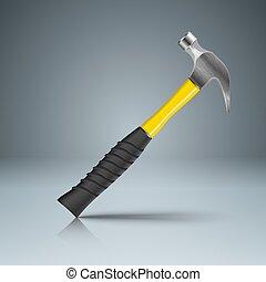 reparación, infographics., recuperación, empresa / negocio, hammer.