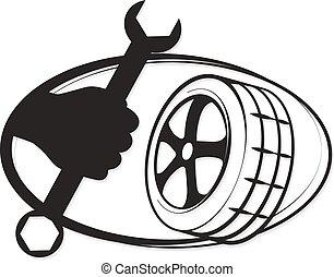 reparación, neumático