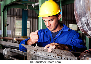reparación, pesado, industria, máquina