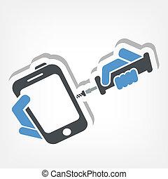 reparación, smartphone